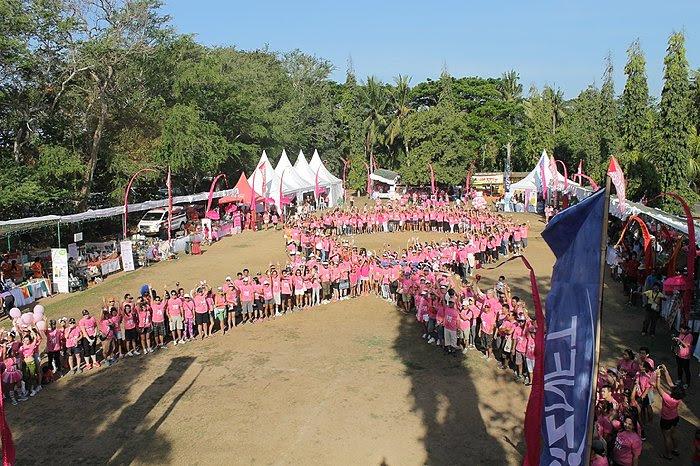 Bali pink ribbon charity event. Balipicturenews.com