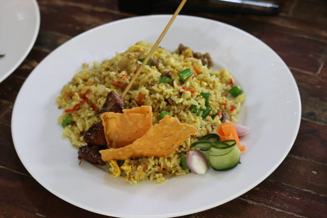 Nasi Goreng Kambing (Lamb Fried Rice), one of the signatures of The Nasi Campur. Balipicturenews.com