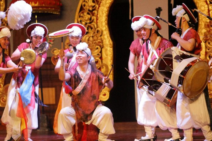 South Korean's Naedrum performed at Bali Arts Festival.