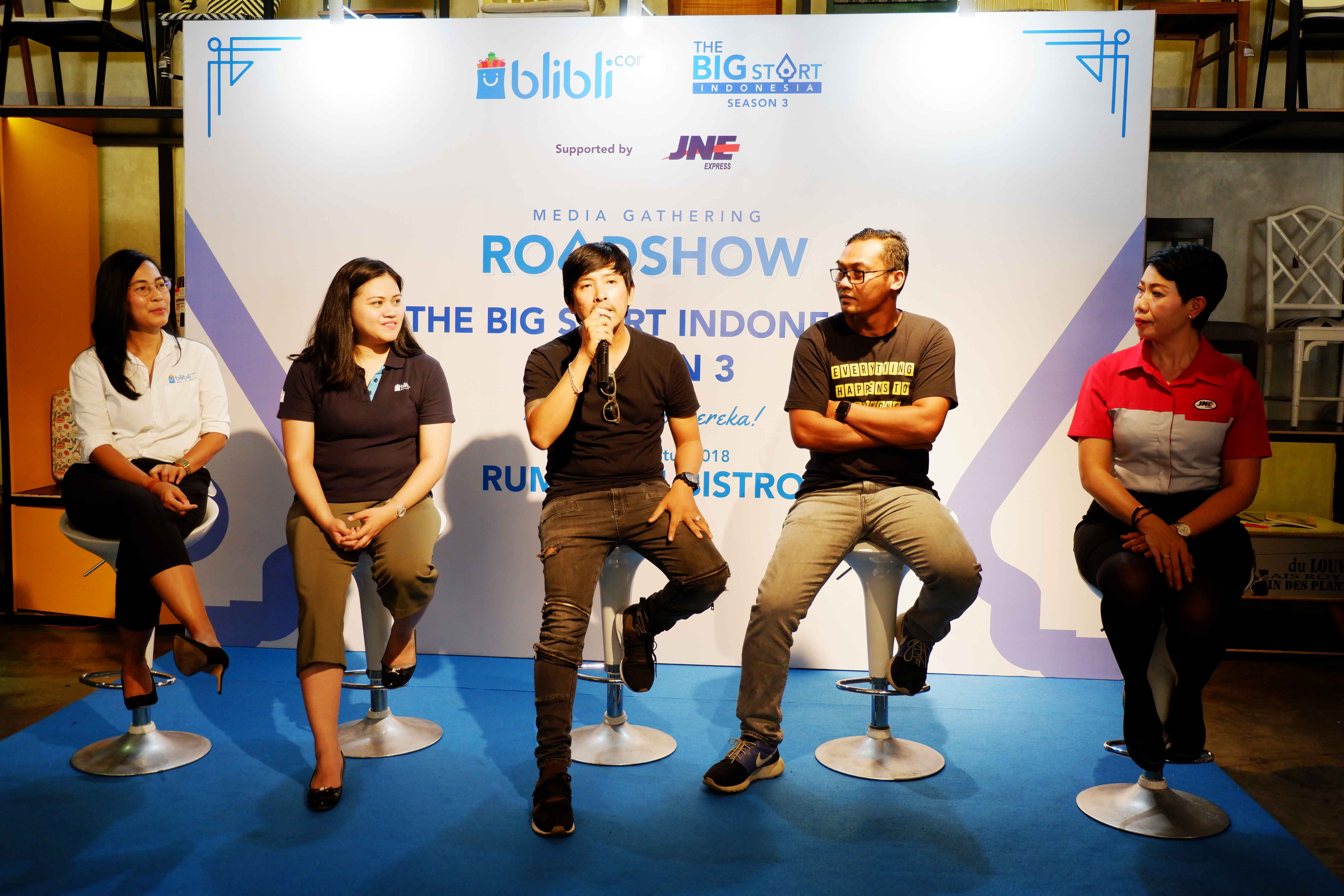 The Big Start Indonesia Season 3 press conference in Denpasar on Thursday.