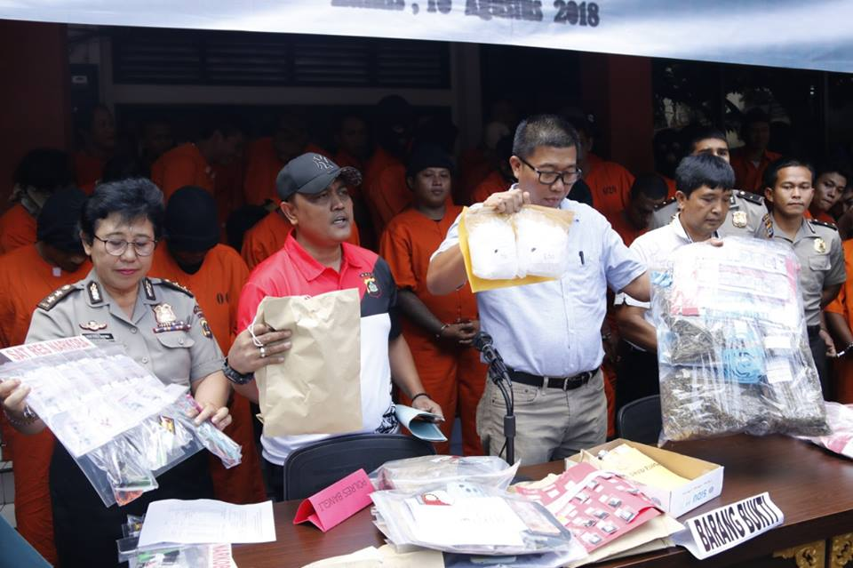 Bali Police reveal drugs cases during January to June 2018 in Bali. (IMG: exclusive)