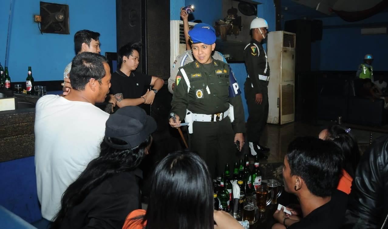 A raid held at entertainment spots in Denpasar and Badung on Sunday.