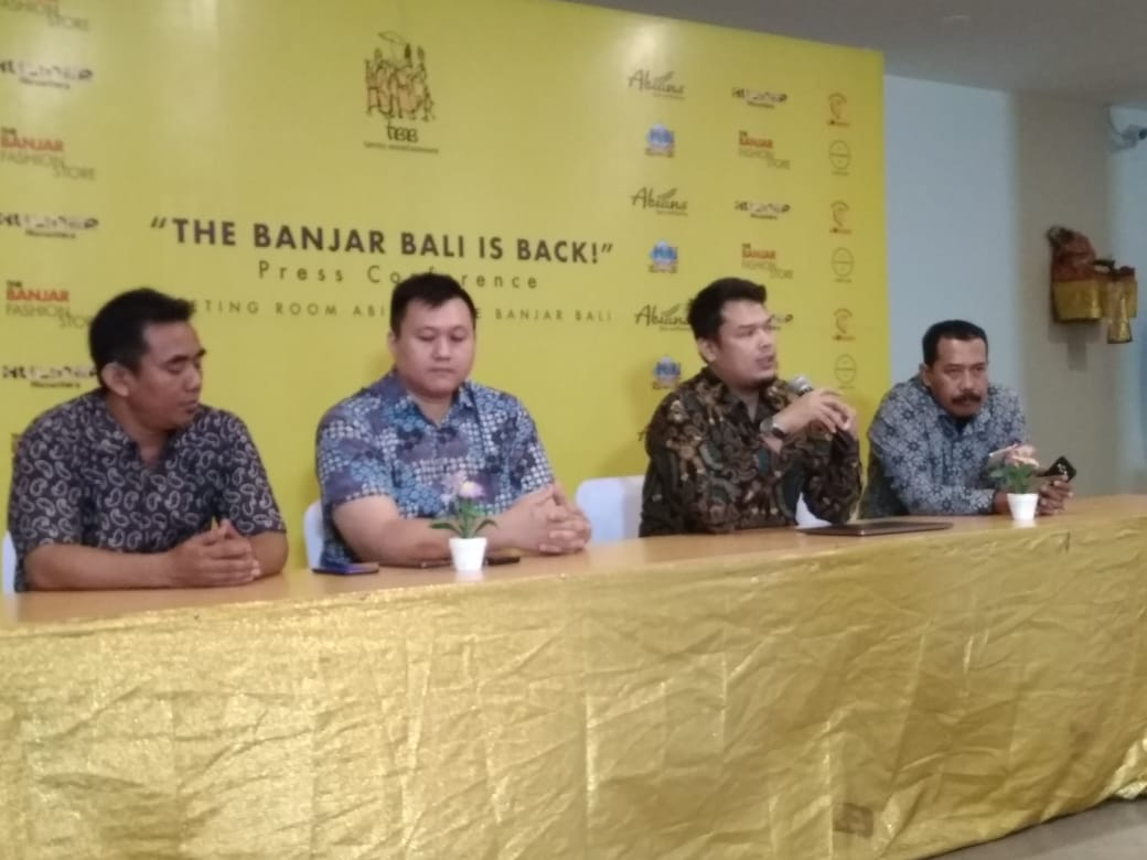 Press conference on the opening of The Banjar Bali on Tuesday.