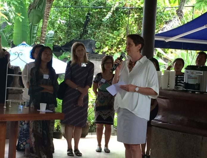 Dr Helena Studdert opened the International Women's Day at the Australian Consulate-General.