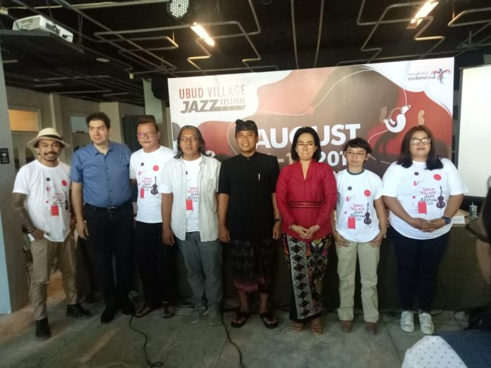 Press Conference of Ubud Village Jazz Festival 2019, in Sanur on Thursday.