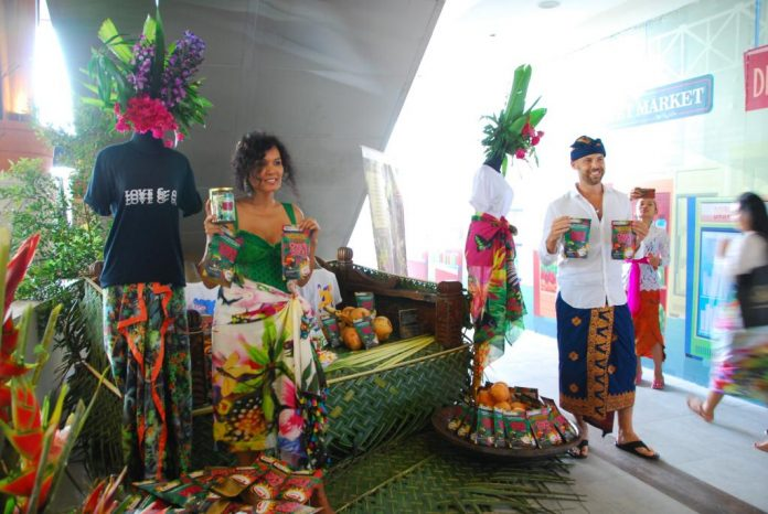 Delia Von Rueti introduces 'Overdozz with Love from Bali' in Jimbaran on Friday.