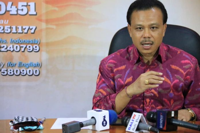Chairman of Bali COVID-19 Task Force Dewa Made Indra. (Photo: Humas Pemprov Bali)