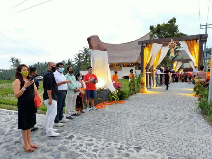 Grand Opening of The Sun Heaven, Ubud, Saturday.