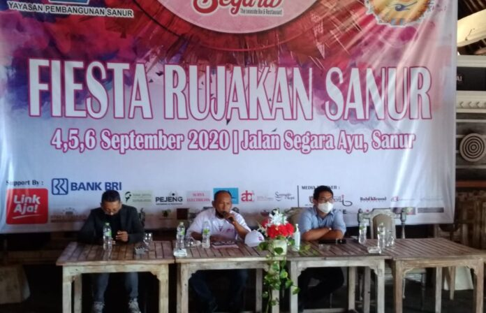 Press conference of Fiesta Rujakan Sanur, Monday.