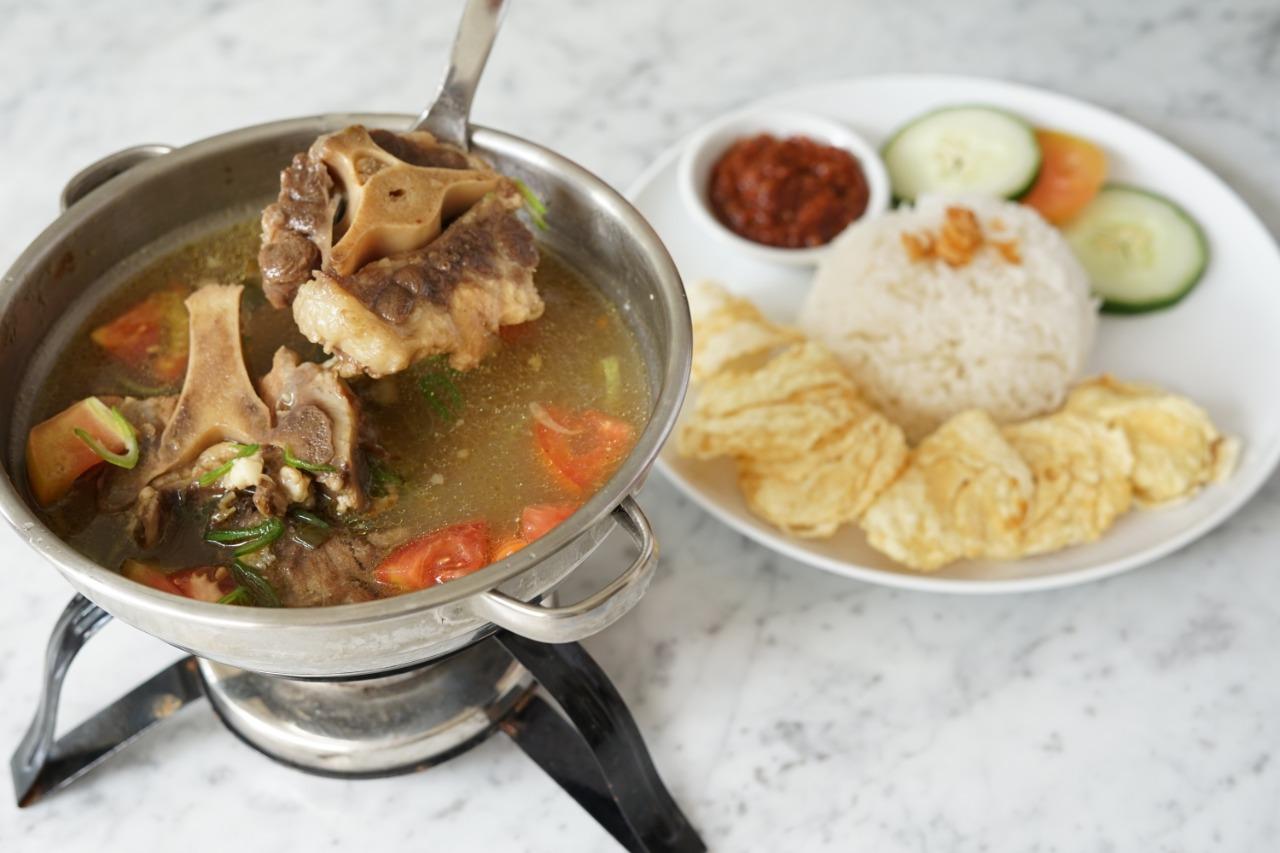 Oxtail Soup at Braga Permai Bali.