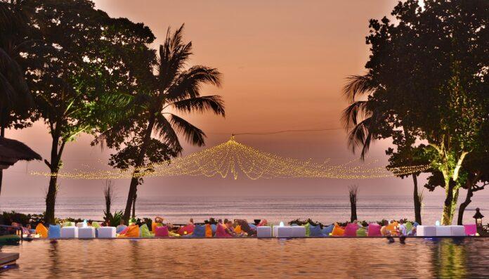 Enjoying sundown at InterContinental Bali Resort.