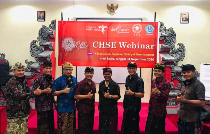 Speakers and moderators of CHSE Webinar held by the Denpasar Administration and IFBEC on Wednesday.