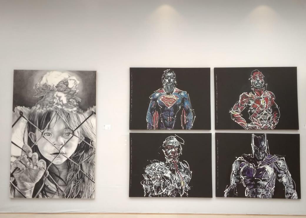 """Getting Closer"" painting exhibition at Seminyak Village Mall, Kuta."