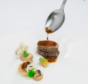 30-day Wagyu Beef, Eggplant and Fermented Porcini.