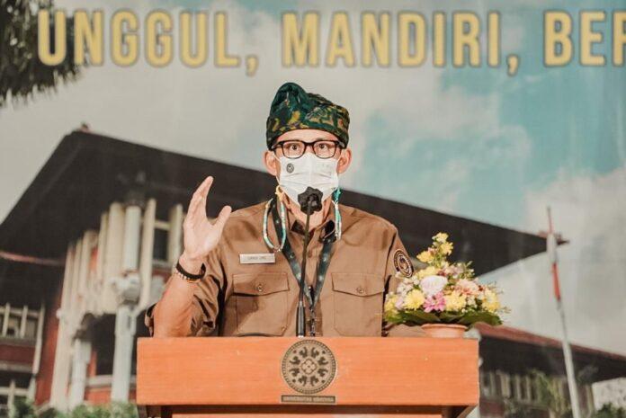 Minister of Tourism and Creative, Sandiaga Salahuddin Uno. (Picture: kemenparekraf)