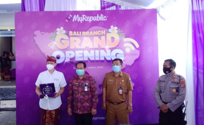 The opening of MyRepublic office in Kuta on Monday. (bpn)