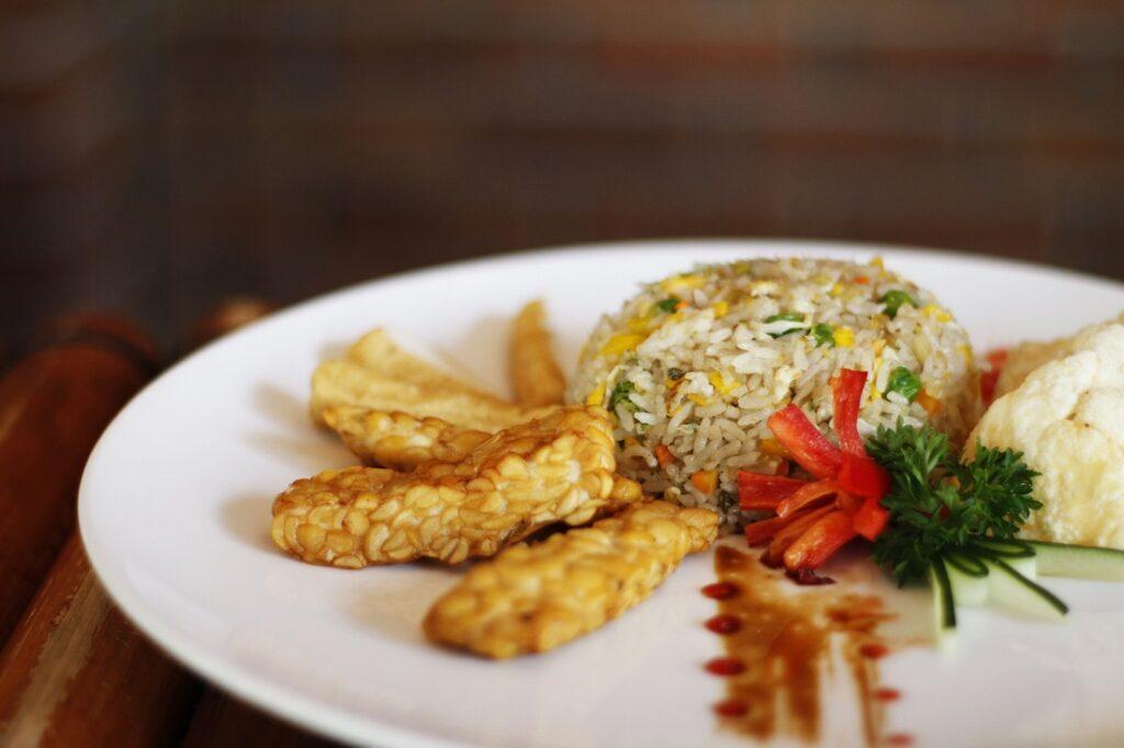 Vegetarian Fried Rice Ketumbar Bistro & Bar.