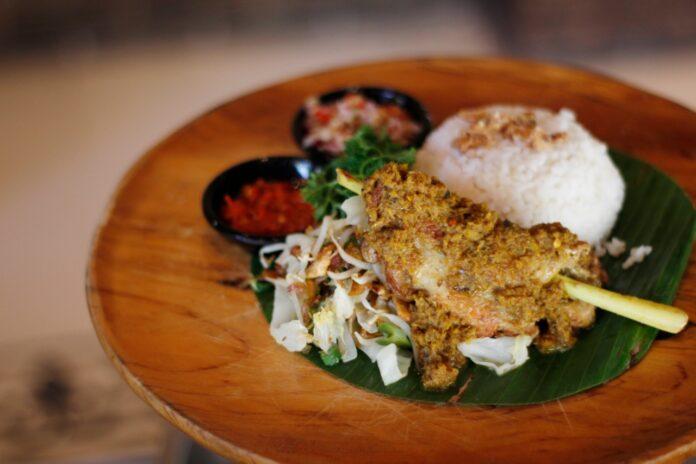 """Ayam Panggang Sereh Lemo at Ketumbar Bistro & Bar."